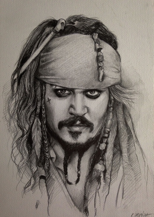 Most Inspiring Jack Sparrow Pencil Sketch Lessons Pin By Athulya M Mukundan On Wonderful Art In 2019 | Pencil Portrait Pics