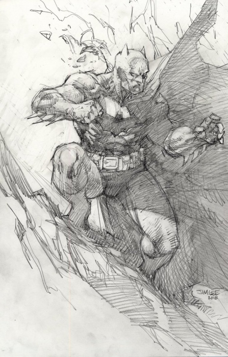 "Most Inspiring Jim Lee Pencil Art Tutorial Jim Lee On Twitter: ""batman Pencil Art Which Was Used To Create The Image"