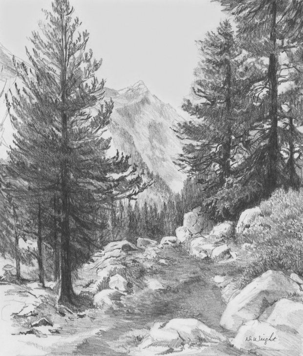 Most Inspiring Landscape Pencil Art Techniques for Beginners Landscape Drawings In Pencil | Re)Introducing Pencils Teaching Image