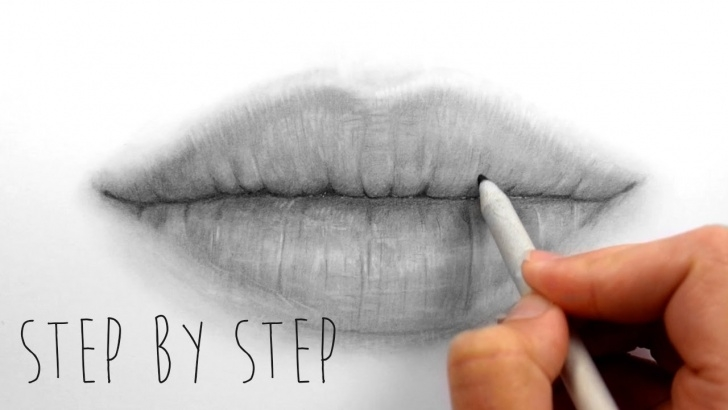 Most Inspiring Lips Pencil Sketch Tutorials Step By Step | How To Draw Shade Realistic Lips With Graphite Pencils |  Emmy Kalia Pictures