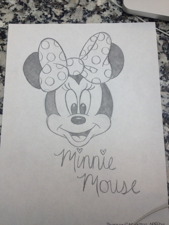 Most Inspiring Minnie Mouse Pencil Drawing Free Minnie Mouse Sketch | Crochet In 2019 | Disney Drawings, Mouse Pictures