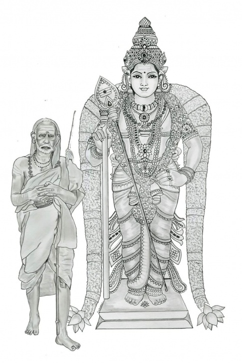 Most Inspiring Murugan Pencil Drawing Ideas Kanchi Kamakshi | Gods In 2019 | Lord Murugan, Hindu Art, Art Sketches Photo