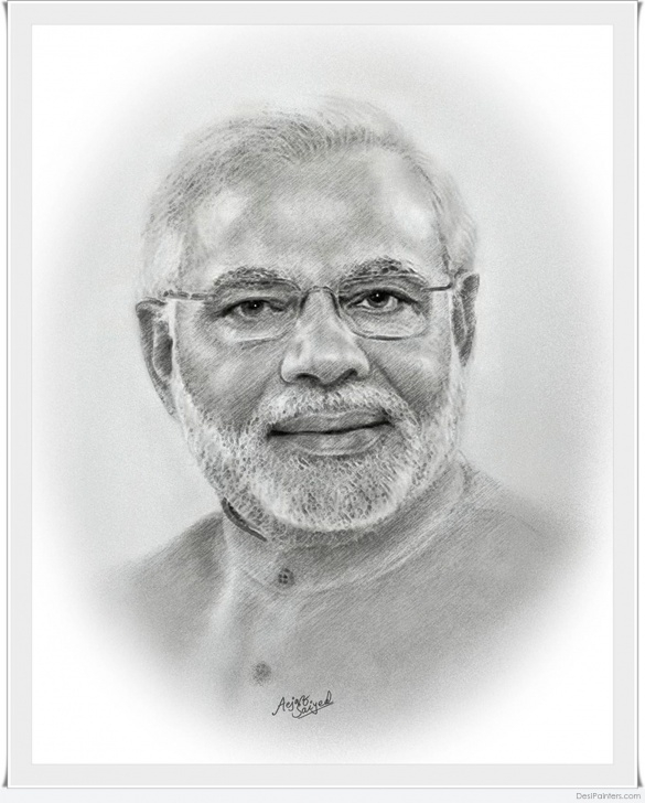 Most Inspiring Narendra Modi Pencil Sketch Step by Step Great Pencil Sketch Of Narendra Modi | Desipainters Photos