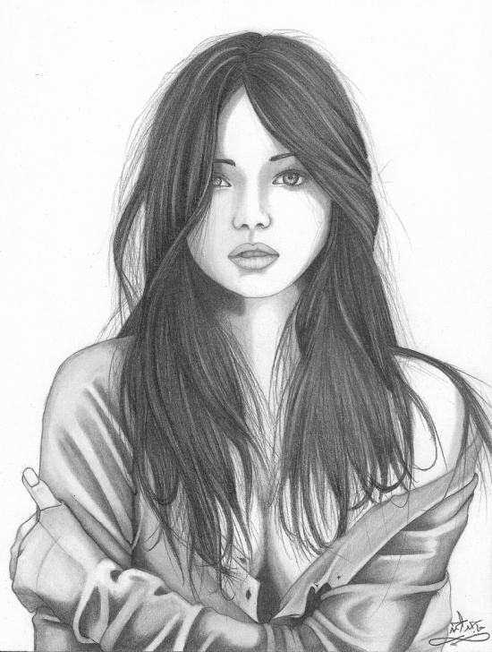 Most Inspiring Pencil Art Girl Courses Pencil Sketch Of Girl At Paintingvalley | Explore Collection Of Picture