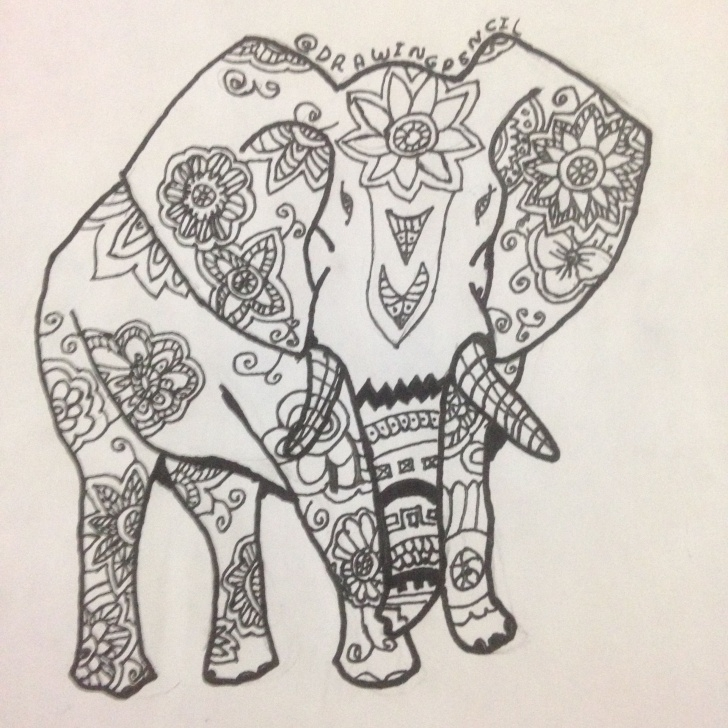 "Most Inspiring Pencil Doodle Art Step by Step Learn To Make Doodle Art ""elephant"" — Steemit Images"
