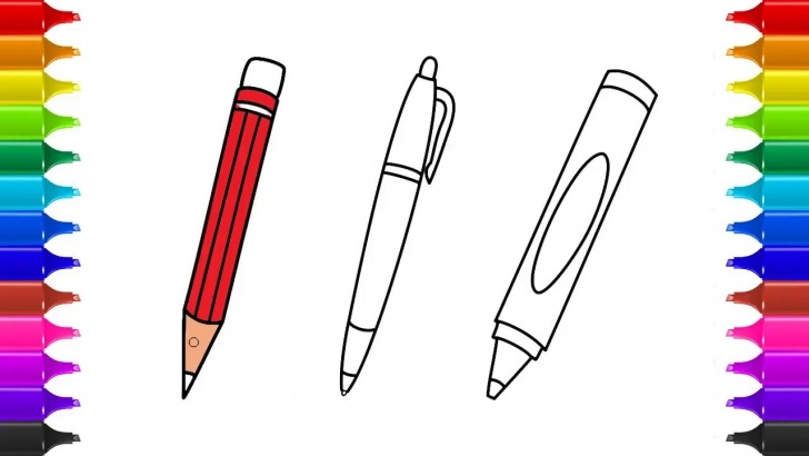 Most Inspiring Pencil Pencil Drawing Step by Step How To Draw Pencil, Pen & Crayon & Coloring | Kids Drawing & Coloring |  Kids Learn Drawing Images