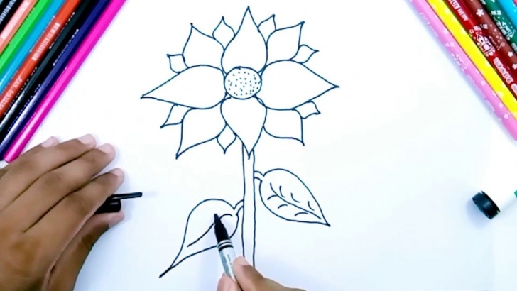 Most Inspiring Pencil Sketch For Kids Lessons How To Draw Sunflower - Easy Pencil Drawing For Kids [ Creative Drawing ] Photo