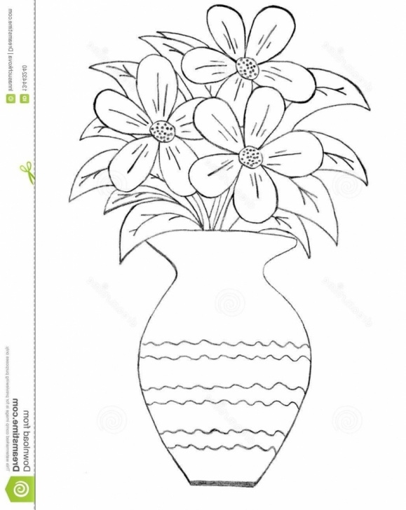 Pencil Sketch Of Flower Pot