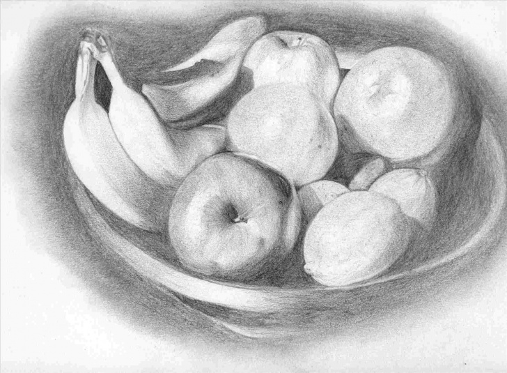 Most Inspiring Pencil Sketch Of Fruits Easy Pencil Sketch Fruit Basket Pencil Drawing | Drawing Work Photos