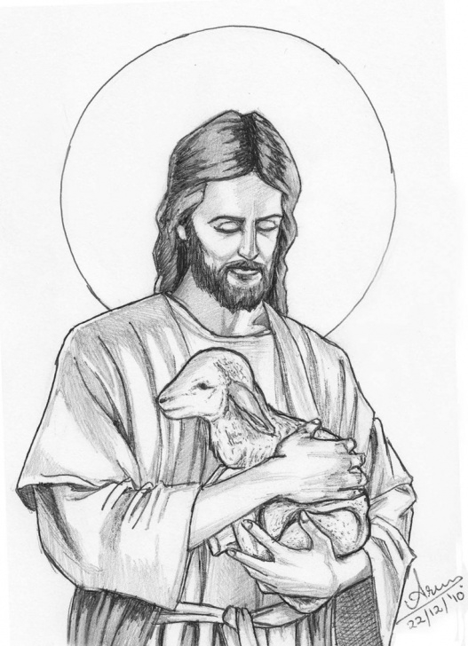 Most Inspiring Pencil Sketch Of Jesus Christ Simple Jesus Christ Sketch At Paintingvalley | Explore Collection Of Pic