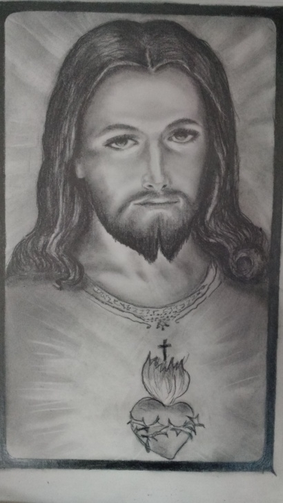 Most Inspiring Pencil Sketch Of Jesus Christ Techniques Graphite Drawing Jesus Christ | Denise's Piece's In 2019 | Pencil Image