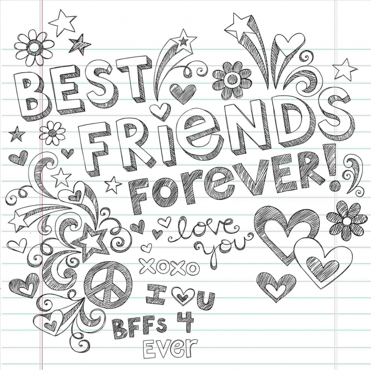 Most Inspiring Pencil Sketches Of Friends Forever Tutorial Pencil Sketches Of Friends Forever Images