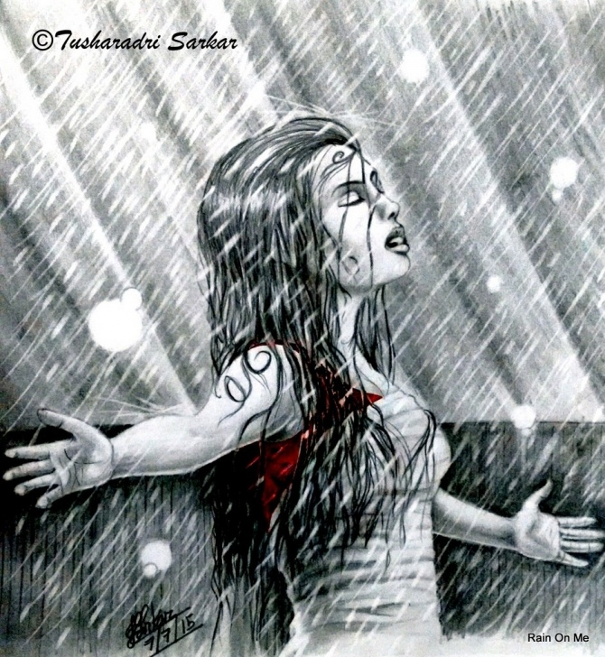 Most Inspiring Pencil Sketches Of Girl In Rain Techniques Girl In Rain Sketch At Paintingvalley | Explore Collection Of Photos
