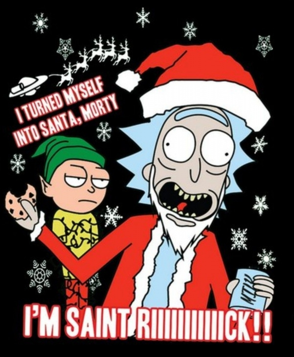 Most Inspiring Rick And Morty Stencil Art Techniques for Beginners Rick And Morty X Saint Rick #christmasmemes | Wallpaper | Rick Image