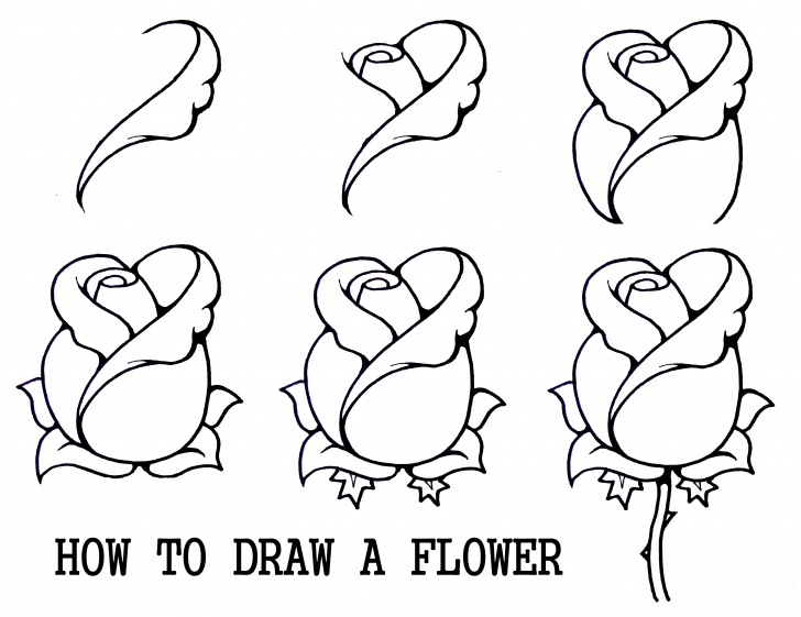 Most Inspiring Rose Pencil Drawing Step By Step Ideas Pin By Malory Grace On Drawing | Pencil Drawing Tutorials, Drawing Pics