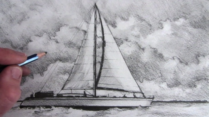 Most Inspiring Sailboat Pencil Drawing Tutorial How To Draw A Boat: Sailing Boat Pictures