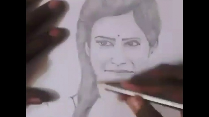 Most Inspiring Samantha Pencil Drawing Free Samantha Drawing | Samantha Pencil Drawing | Pencil Sketch Image