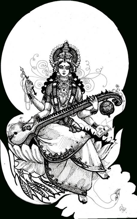 Most Inspiring Saraswati Pencil Sketch for Beginners Saraswati Paintings Search Result At Paintingvalley Picture