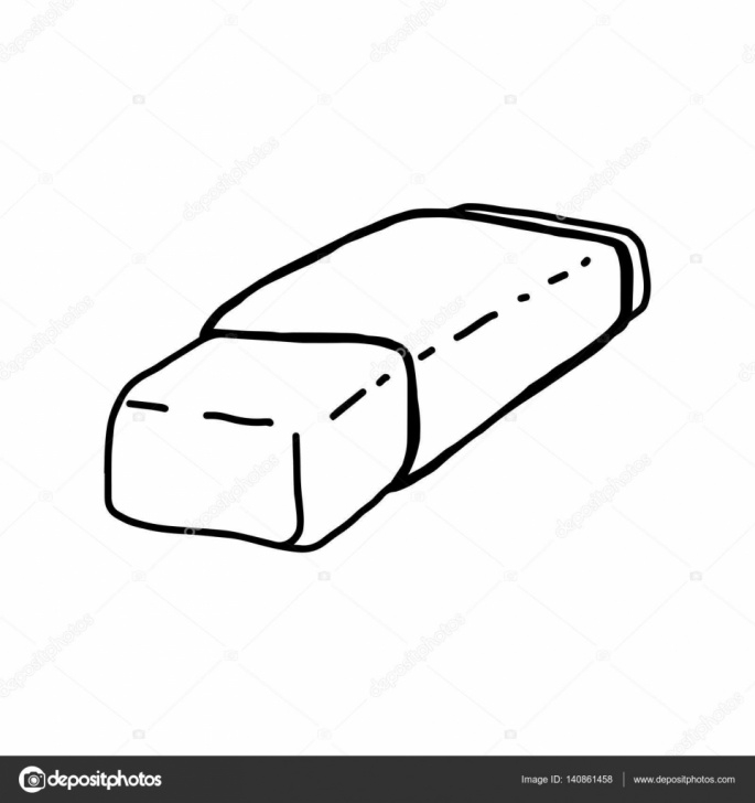 Most Inspiring Sketch Of Pencil Lessons Vector Illustration Hand Drawn Sketch Of Pencil Rubber Isolated On Picture