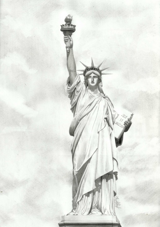 Most Inspiring Statue Of Liberty Pencil Drawing Techniques for Beginners Statue Of Liberty Pencil Drawing At Paintingvalley | Explore Pic