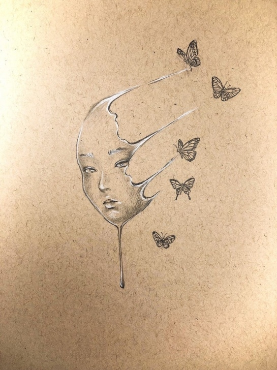 Most Inspiring Surreal Pencil Drawings Tutorial Pencil Drawing On Tan Paper, Surreal Art, Original Artwork, Original  Drawing, Pencil Art, Graphite Drawing, Original Art, Vintage Drawing Photos