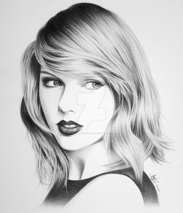 Most Inspiring Taylor Swift Pencil Drawing Step by Step 7+ Inspiring Taylor Swift Sketch Drawing Photos - Sketch - Sketch Arts Photo
