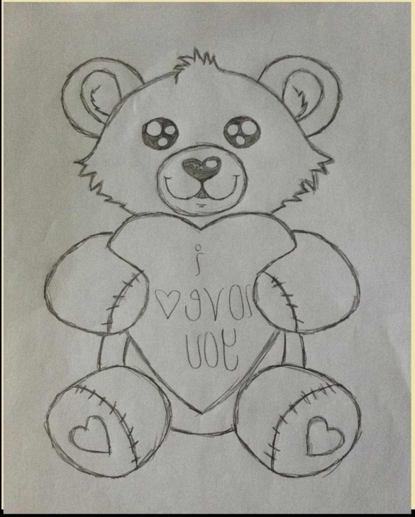 Most Inspiring Teddy Bear Drawings Pencil Lessons Pencil Sketch Of Teddy Bear At Paintingvalley | Explore Image