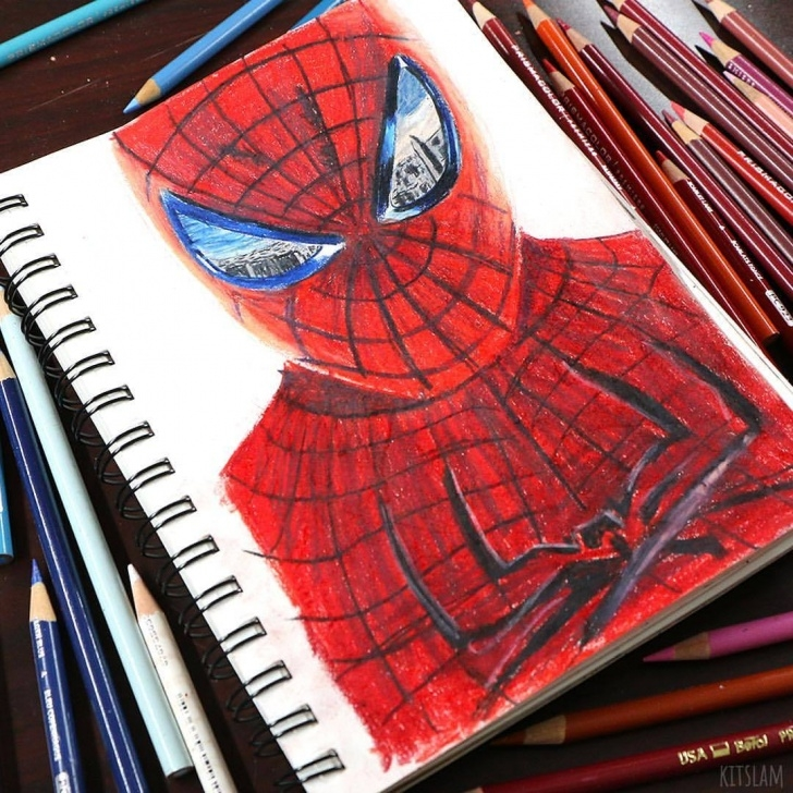 Most Inspiring The Amazing Spider Man Drawing In Pencil Ideas Kitslams Art | Sharing The Planet's Creativity — It's My 1 Hour Pictures