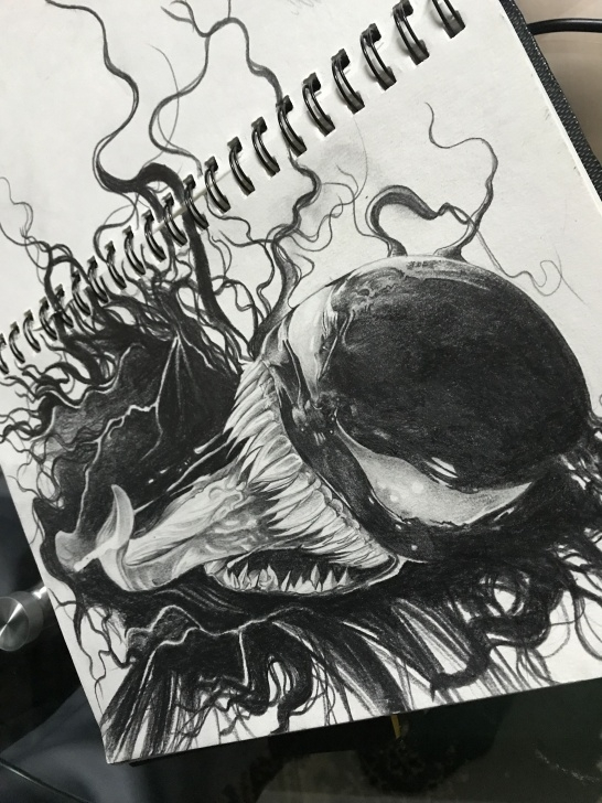 Most Inspiring Venom Pencil Art for Beginners Venom Marvel Pencil Sketch | Paintings And Sketches In 2019 | Marvel Photo