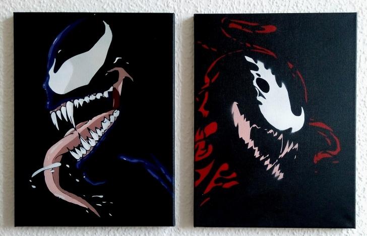 Most Inspiring Venom Stencil Art Tutorials R] Venom : Stencils Images