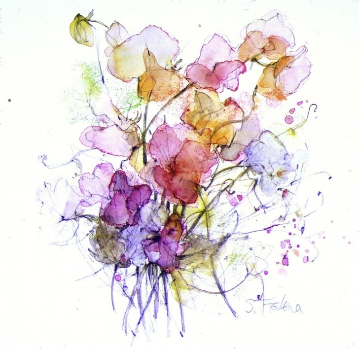 Most Inspiring Watercolor Pencil Flowers Tutorials Pin By Sherry Maneval On Tattoos In 2019 | Watercolor, Watercolor Pics