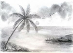 Nice Amazing Pencil Drawings Of Nature Courses Pencil Sketches Of Nature At Paintingvalley | Explore Collection Image
