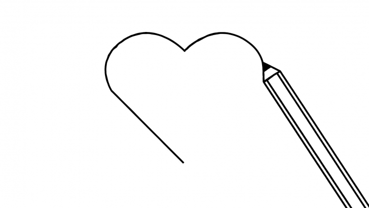 Nice Animated Pencil Drawing Ideas Pencil Drawing A Heart Animation Motion Background - Storyblocks Video Photo