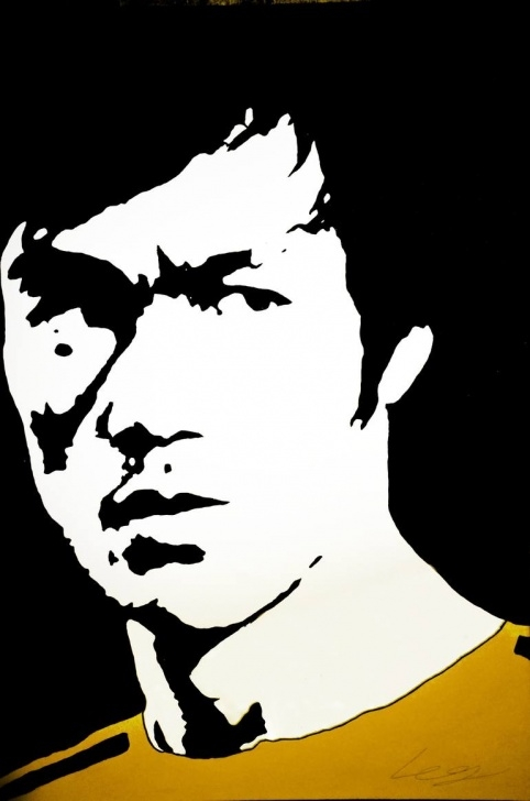 Nice Bruce Lee Stencil Art Techniques for Beginners Bruce Lee Painting By David Partida | Saatchi Art Images