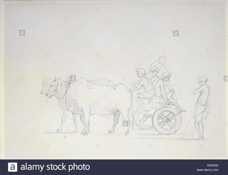 Nice Bullock Cart Pencil Drawing Lessons A Bullock Cart. 1786 - 1793. One Of 16 Drawings Of Various Kinds Of Pictures