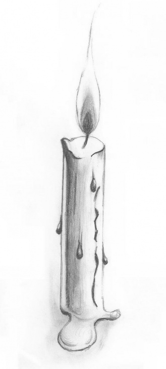 Nice Candle Pencil Drawing Easy Candle Sketch - Google Search | Painting Ideas | Pencil Drawings Photo