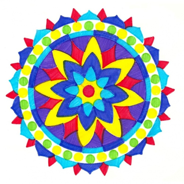 Nice Color Stencil Art Tutorials Joy Mandala Colorfolds Stencil Book - Stencils And Coloring Books For Kids Picture