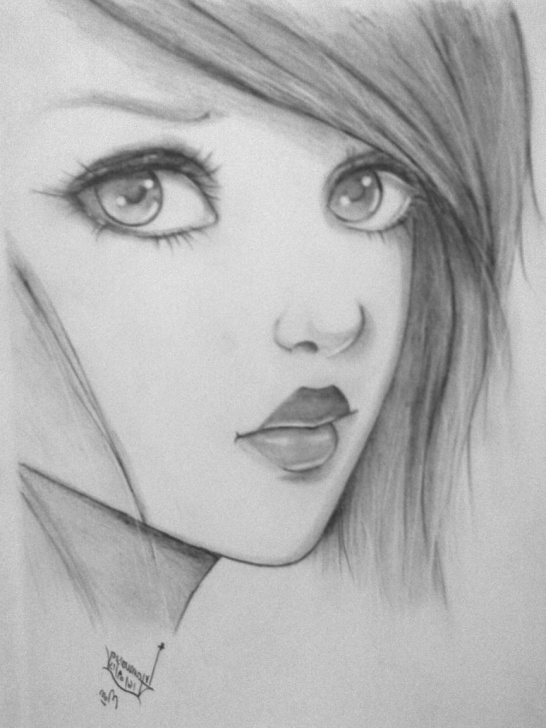 Nice Cute Girl Pencil Drawing Techniques Cute Baby Pencil Sketch And Cute Girl Pencil Sketch Pencil Drawing Photo