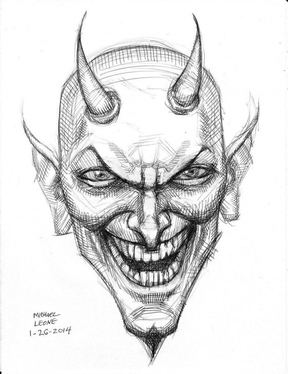 Nice Devil Drawings In Pencil Tutorials Demon Drawings At Paintingvalley | Explore Collection Of Demon Images