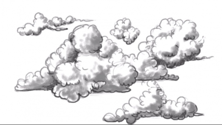 Nice Drawing Clouds With Pencil Ideas How To Draw Clouds - Easy Clouds To Draw - Mat Photo