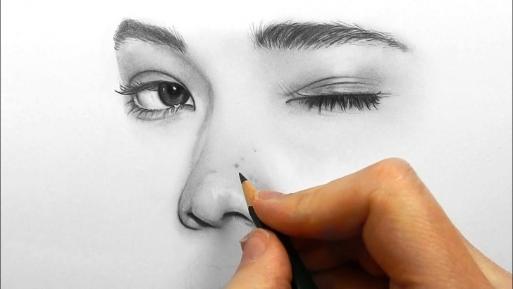 Nice Drawing Using Pencil Techniques for Beginners Drawing, Shading And Blending A Minimalistic Face With Graphite Pencils Photo