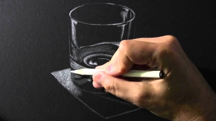 Nice Drawing With White Pencil On Black Paper Simple Drawing Time Lapse: White Pencil On Black Paper Pic