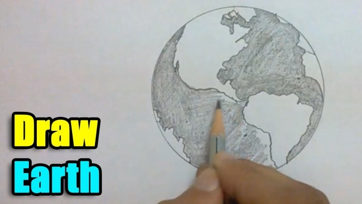 Nice Earth Pencil Drawing Step by Step How To Draw Earth Images