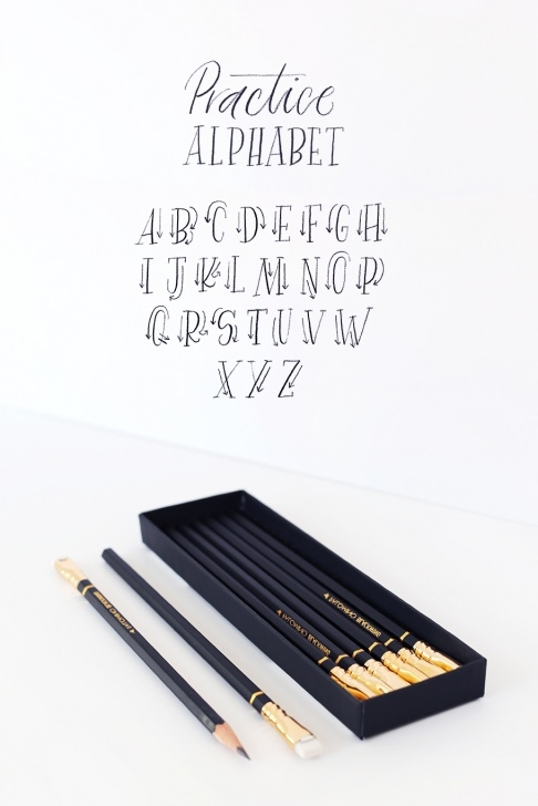 Nice Easy Calligraphy With Pencil Lessons Molly Jacques Workshop • Tutorial: Pencil Calligraphy Picture