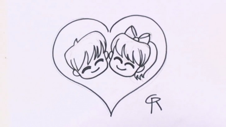Nice Easy Couple Sketch Lessons Free Cartoon Love Couple To Draw, Download Free Clip Art, Free Clip Pics