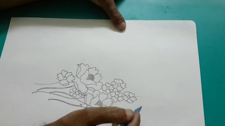 Nice Flower Design Pencil Drawing Techniques for Beginners Simple Flower Designs For Pencil Drawing Pics