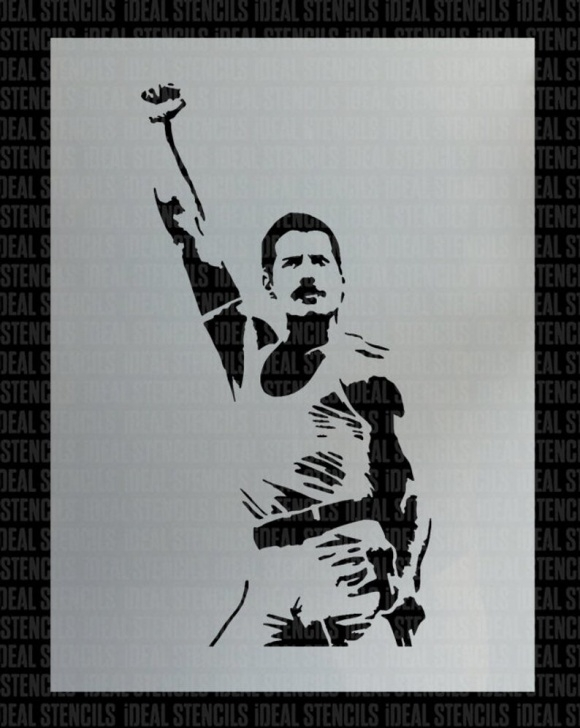Nice Freddie Mercury Stencil Art Easy Freddie Mercury Stencil, Paint Walls, Fabrics, Canvas, Furniture, Large  Painting Stencil, Home Decor & Craft, Reusable, Ideal Stencils Image