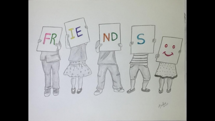 Nice Friendship Day Pencil Drawings Tutorials How To Draw Friendship Day 2019 Drawing For Beginners || Very Easy Pencil  Drawing#skngroup Images