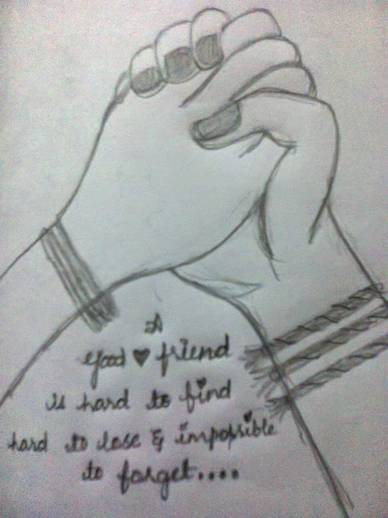 Nice Friendship Day Pencil Sketches Easy Pencil Sketch Of Independence Day And Pencil Sketches: Happy Pictures