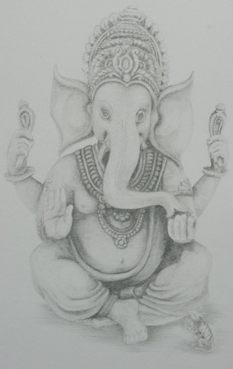 Nice Ganpati Pencil Sketch Simple Ganpati Sketch Gallery (61+ Images) Photos